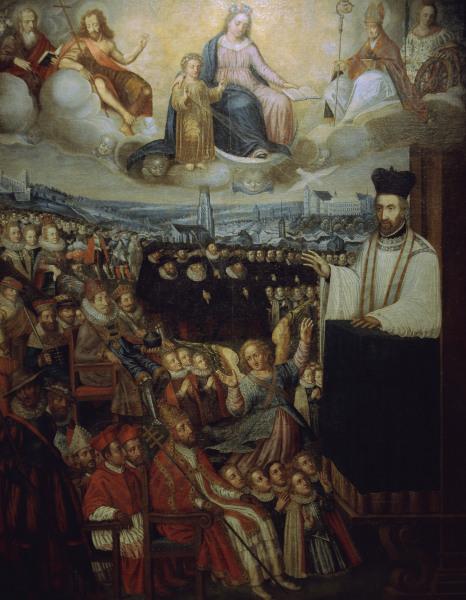 Petrus Canisius als Prediger. Freiburg (Switzerland), College Saint-Michel.